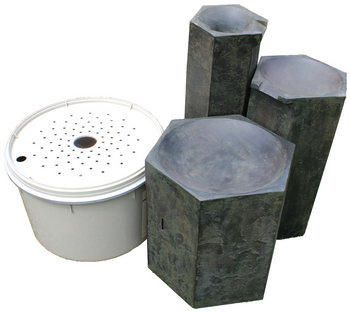 Formal Basalt Column Set by Aquascape