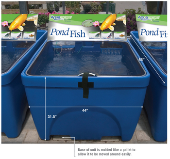 Fish retailing system show tanks for Koi pond tubs