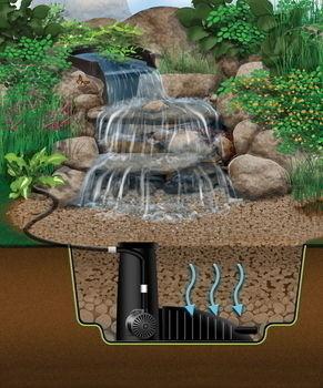 Aquascape pond supplies microsnorkel centipede filter for Pond kits supplies