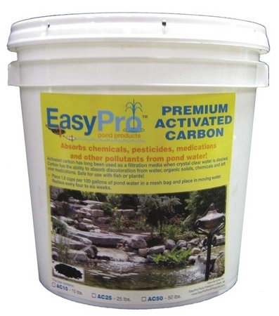 Premium activated carbon by easypro pond products for Charcoal pond filter