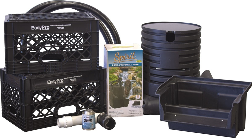 Waterfall kit mini just a falls system easypro pond for Pond kits supplies