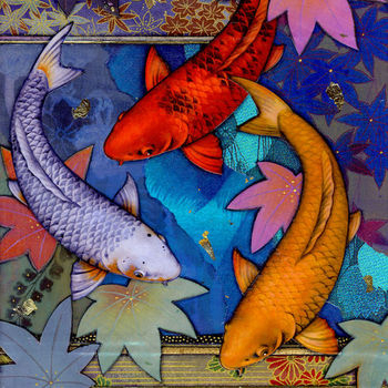 Blue Water Koi | Tiles