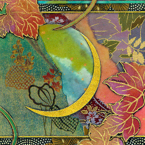 Moon and Leaves | Tiles