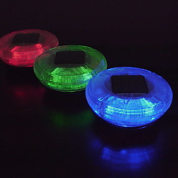 Solaris Solar Powered Color Changing LED Floating Light Disk | Specialty Lights