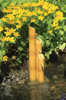 Pouring Three-Tier Bamboo Fountain | Aquascape Pond Supplies