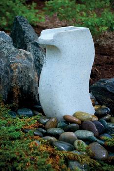 Modern Curved Fountain by Aquascape | Fiberglass Stone Composite