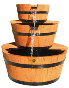Three tier barrel fountain by alpine fountains accents for Ultimate koi clay