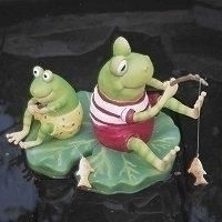Fishing frogs floater floating ornaments for Ultimate koi clay