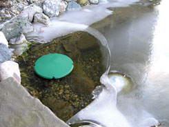 Pond De-Icer | Heated Pond Saucer