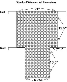 Classic Standard Debris Net Skimmer (6