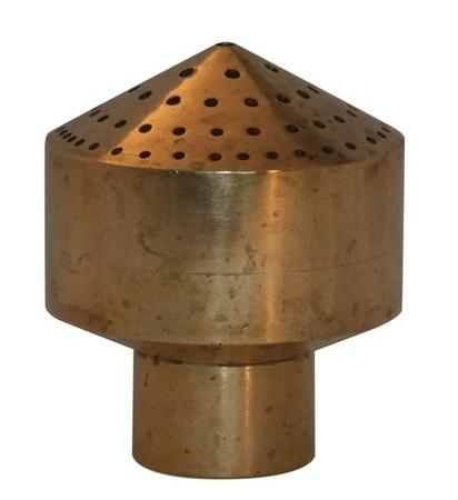 Bronze multi spray nozzle fountain spray for Ultimate koi clay