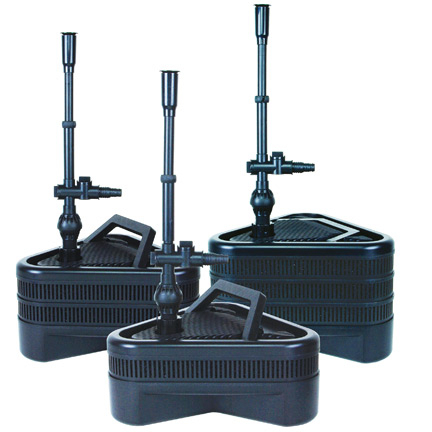 Uno duo trio submersible pond pump filter kits by for Pond filter kits with pump