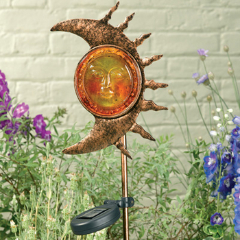 Solar luna metal stake light statuary for Ultimate koi clay