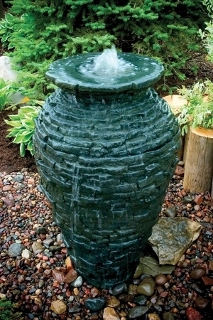Medium stack slate urn by aquascape fiberglass stone for Ultimate koi clay