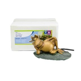 Pond Spitters | Lazy Frog on Lily Pad Spitter | Aquascape Pond Supplies