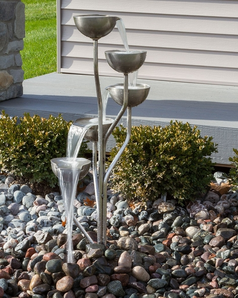 Professional Guaranteed House Painting Western Springs: Harmony Springs Rustic Stainless Steel Fountain