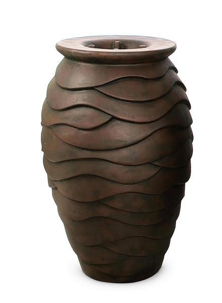 Scalloped Urn Fiberstone Fountains | Fiberglass Stone Composite