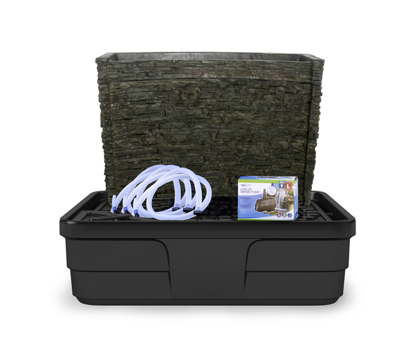 Stacked Slate Spillway Wall Fountain Kit | Fiberglass Stone Composite
