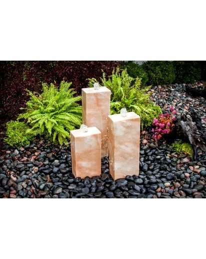 Coral Marble Triple Kit -4 Sides Smooth | Stone Fountains