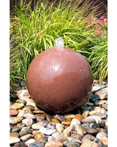 Red Sandstone Sphere Fountain | Stone Fountains