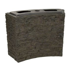 Curved Stacked Slate Wall | Fiberglass Stone Composite