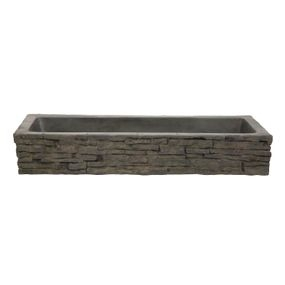 Straight Stacked Slate Wall Toppers | Fiberglass Stone Composite