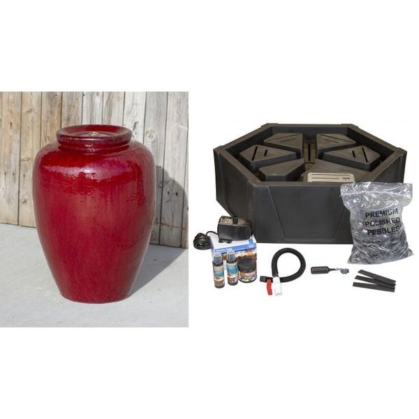 Ceramic Vase Closed Top Fountain Kit - Large | Ceramic Vase Fountain Kits