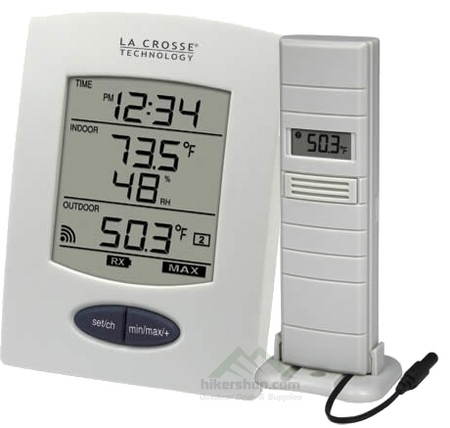 Wireless weather station with outdoor temperature sensor for Koi pond temperature