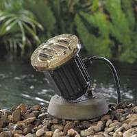 Image 20 or 50 Watt Underwater Composite Light w/Solid Brass Grate from Vista