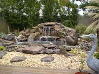 Lionheart Landscaping waterfall and pond thumbnail