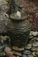 Image Mini Stacked Slate Urn Fountain