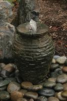 Image Mini Stacked Slate Urn Fountain