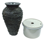 Small Stacked Slate Urn Fountain Kit - 58064