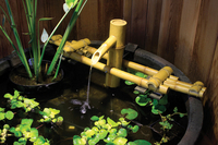 Image Adjustable Pouring Bamboo Fountain w/ Pump by Aquascape