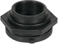 Image Black Poly Bulkhead Fittings by AquaScape