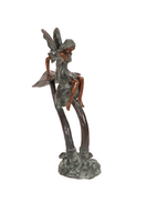 Image Brass Mushroom Fairy Statuary