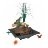 Image Alpine Peaceful Frog on Bamboo Fountain TT5654