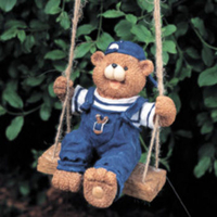 Image Bear On Swing Statuary