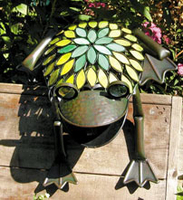 Image Stained Glass/ Metal Frog