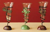 Image Cast Brass Bud Vases