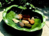 Image Ceramic Solar Frog Fountain- Green Glazed by Smart Solar