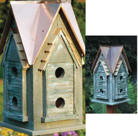 Image Copper Mansion Birdhouse by Heartwood