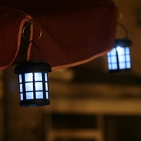 Image Solar Umbrella-Hanging Lantern