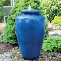 Image Tranquil Decor Fountain - Large Smooth Vase - Blue