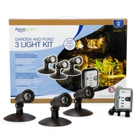 Image LED Pond and Landscape Spotlight Kit Three 1-Watt