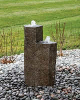 Image Twin Tower Basalt Fountain Kit- Medium