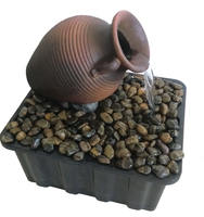 Image Tipped Vase Fountain - Brown
