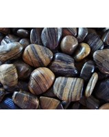 Image Polished Striped Pebbles - 40 lb Bag