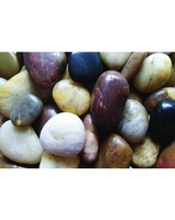 Image Polished Mixed Pebbles - 40 lb Bag
