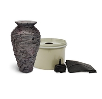 Image Small Stacked Slate Urn Fountain Kit